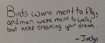 An incredible quote discussed and CREATED by one of our fabulous fifth graders today!