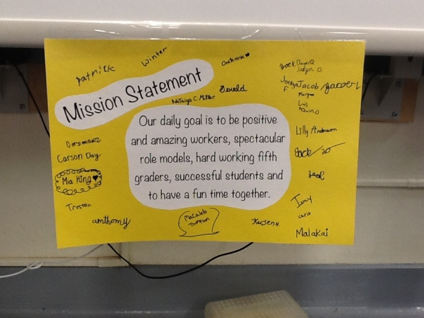 This is our classroom mission statement.