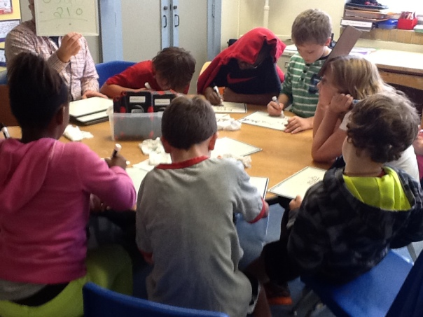 Here's one of the math groups that Mr. Shelton worked with during our additional math time in the afternoons.