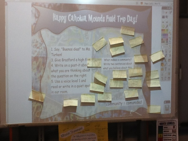 Here is what the kids saw and did this morning when they walked into our classroom!