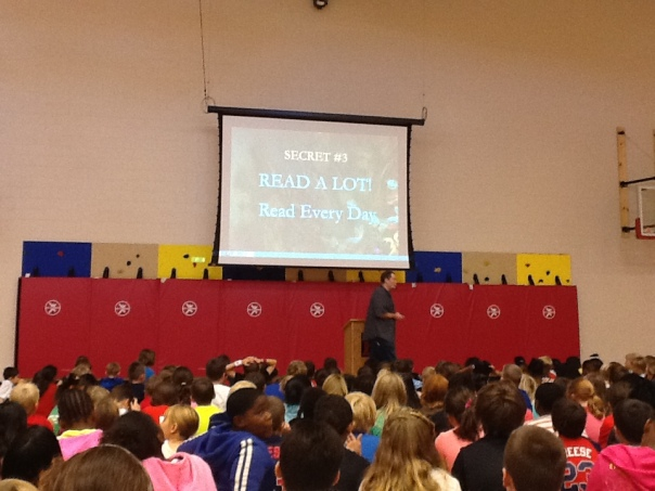 We got to hear 5 tips from becoming an author from Mr. Mull.  I particularly liked this one!
