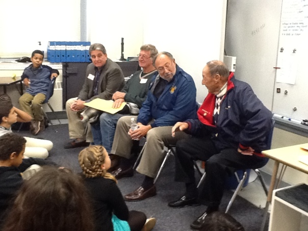Here are the veterans who visited our classroom.