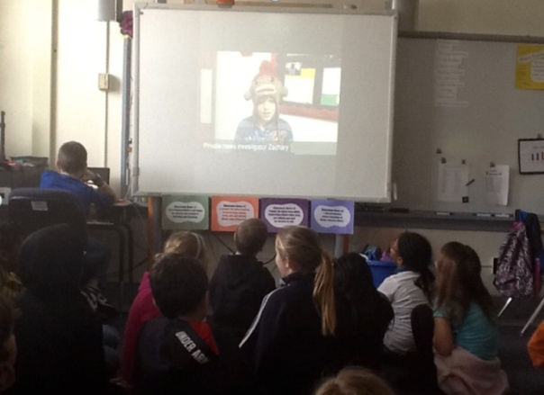 Here is an example of one of the video presentations.  I loved how all of the students were engaged learning about Ancient West Africa.  And yes, wonderful Zach is wearing a sock monkey snow hat. :)
