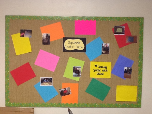Look at all of our hard work!
