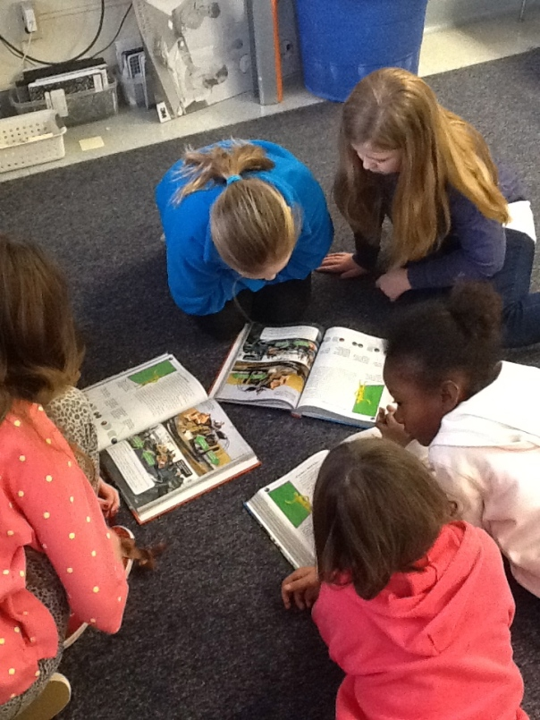 Here is another group working hard to learn about their Law of Motion.
