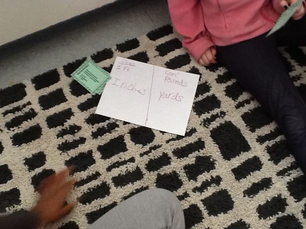 Here are some other math thinkers working on conversion during our flex group.