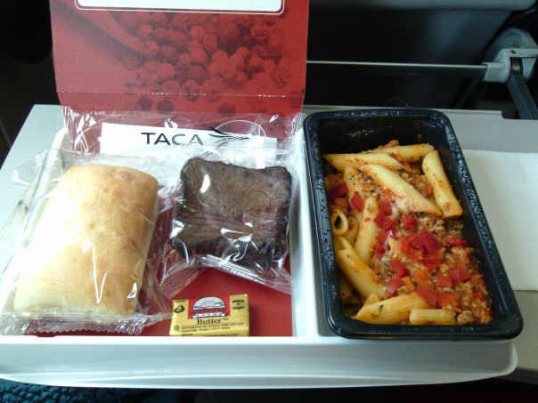 One of my many meals on the plane.  Yum!