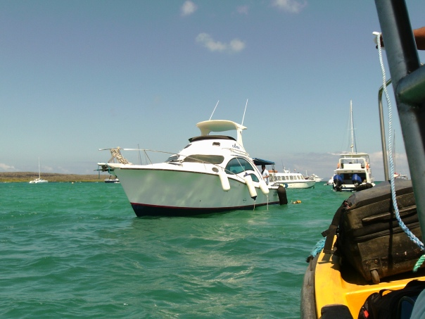 This is a boat I rode for 2 hours to get to Isabela, the island where my friend is living.