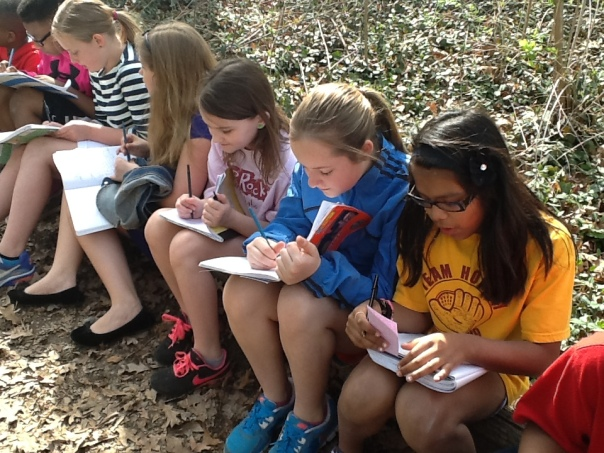 Look at all of these writers when we were on the trail behind Robinson.