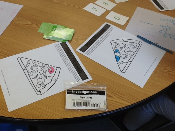 Here are the game boards we used during our Pizza Division game.