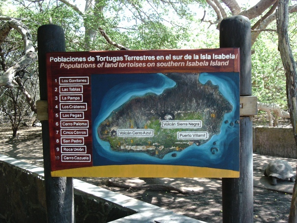 This tells you a bit about where the tortoises are located on the island.