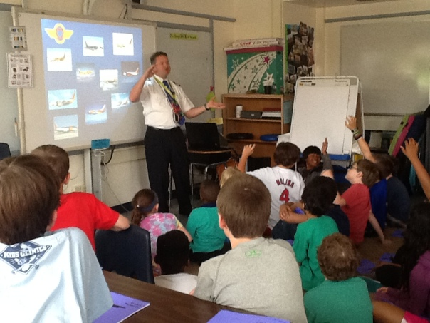 Here is Pilot Smith teaching us about different kinds of planes.  Cool!