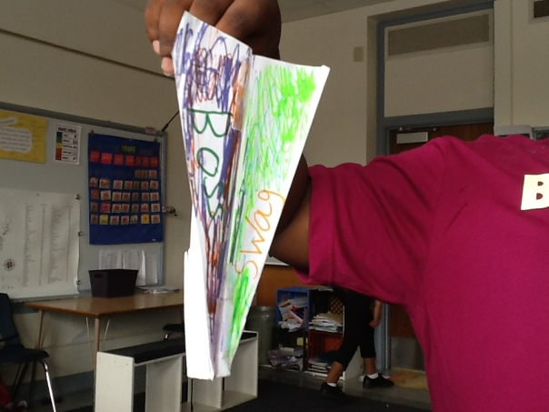 Here is one of our paper airplanes.