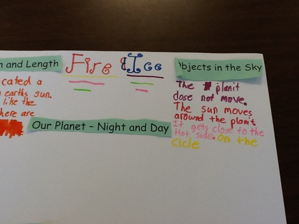 And finally, a bit more information about another planet created by fifth grader scientists.
