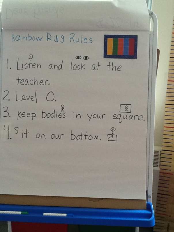 Check our our Rainbow Rug Rules!