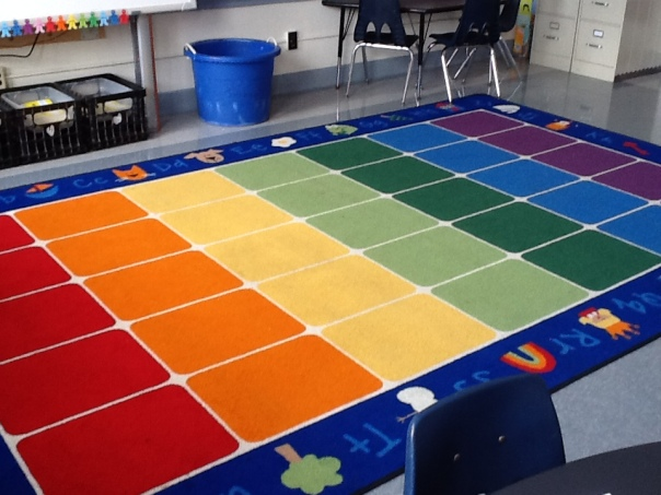 Here is our Rainbow Rug.