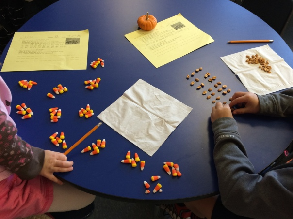 These mathematicians were definitely working on grouping items and counting by 5's and 2's.