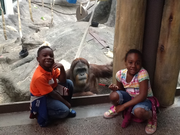 Tyrin and Leanna made a friend!