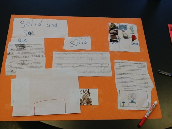 This is one of our finished science posters.