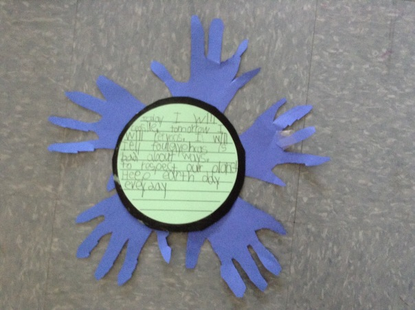 Here is one of the final projects created for Earth Day.