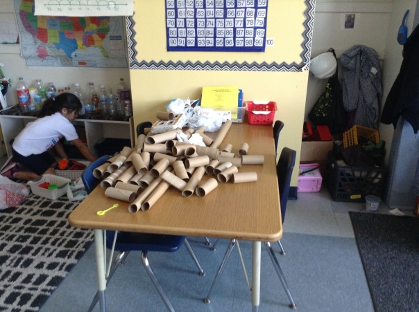 Here are all of the tubes we sorted to use to build.