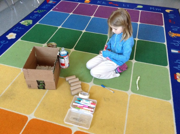Maddie began building  by doing some brainstorming.