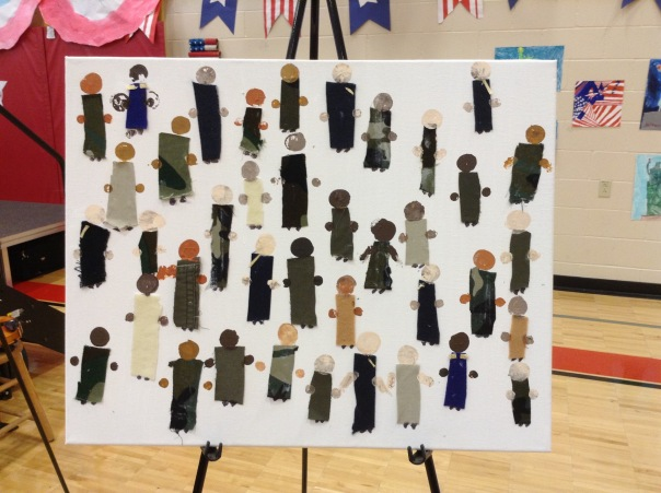 Third grade created artwork to honor our heroes.