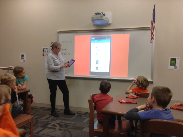 Mrs. Meihaus taught us how to access eBooks on our iPads.