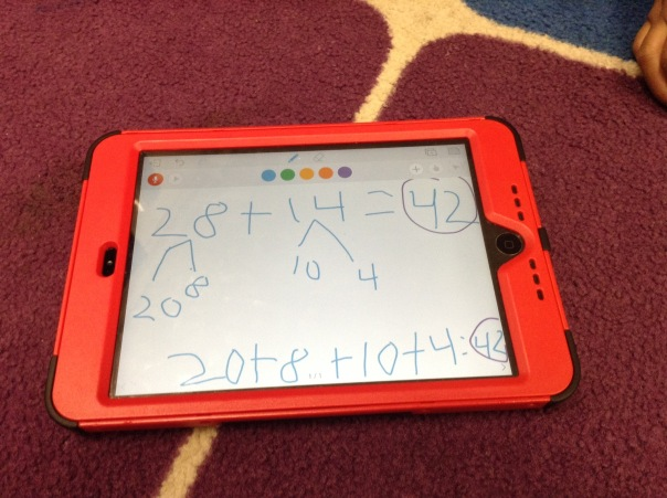 One mathematician showed her thinking on her iPad like this.