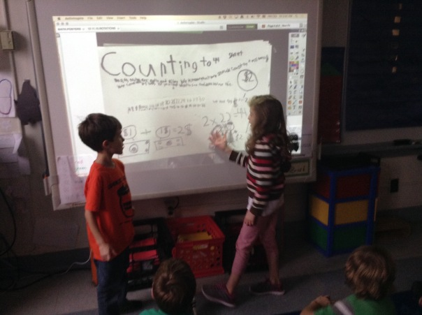 Mathematicians solved their solution with the class about how much each student needed to earn for our classroom sale.