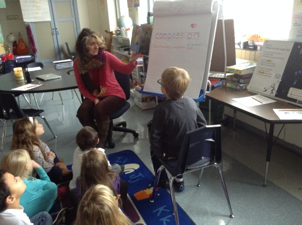 Ms. Howe, our Educational Support Counselor, came and read us a story and discussed compassion with us.