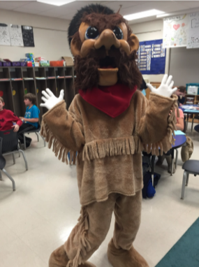 Which staff member at Robinson would be crazy enough to dress up like Kirkwood's mascot, Pioneer Pete?!?