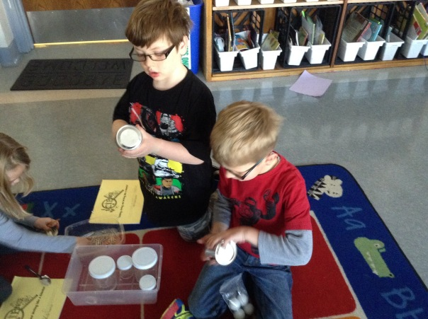 Wyatt and Alec explored sounds as scientists.