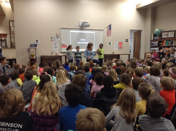 Our visiting author, Kate Klise, talked with these kids about creating a story.