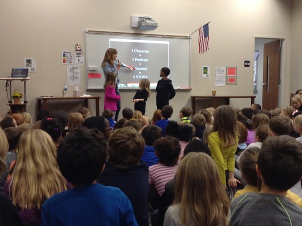 Kate Klise spoke with kids about creating stories.