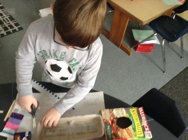 Wyatt worked on his instrument.