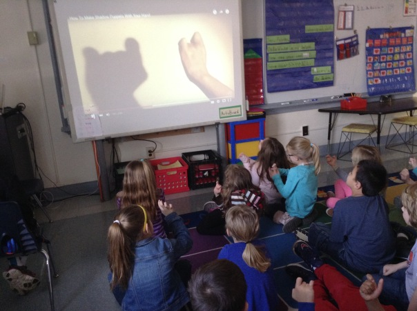 We watched a video to help us learn how to make shadow puppets so we could use the knowledge we have gained about light to have some fun!