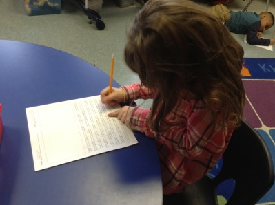 This writer worked during the on-demand persuasive writing prompt.