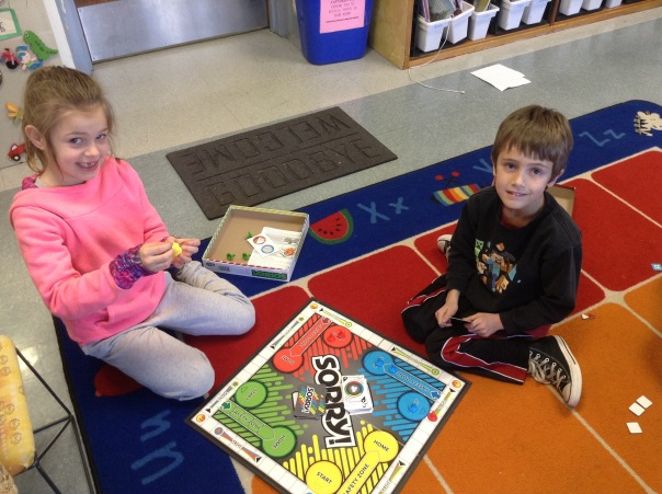 Gray and Riley enjoyed playing Sorry during our Game Day.