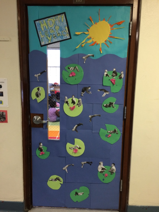 This is how we decorated our classroom door! Super cute, huh?