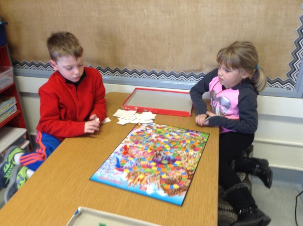 Trip and Emily played Candyland during our Game Day.