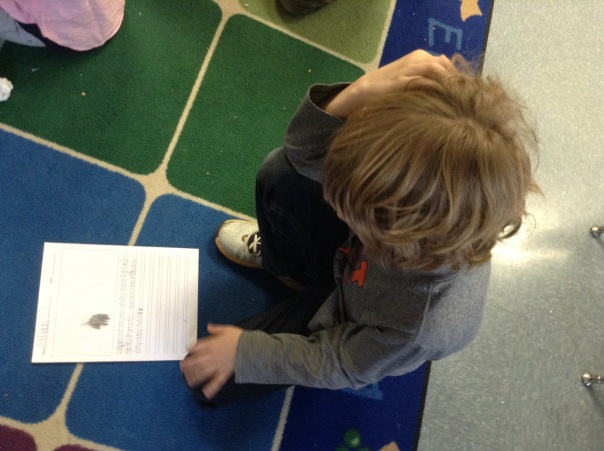 Ethan read his persuasive piece to see what he could add to make it better.