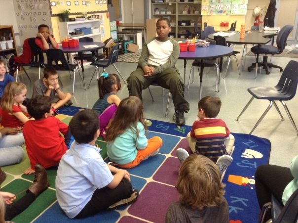 Damon, a fourth grader, visited us to talk with us about making respectful choices in our classroom.