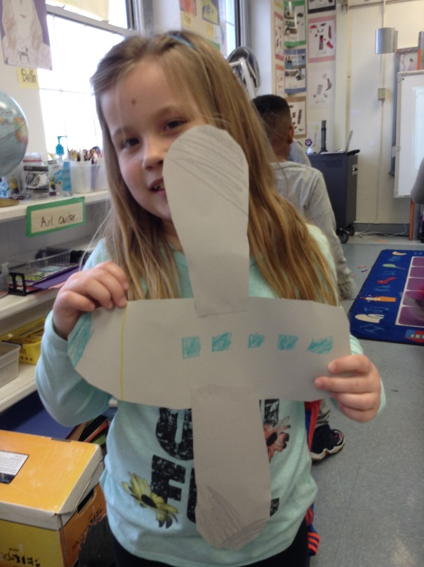 Olivia created her mode of transportation, an airplane.