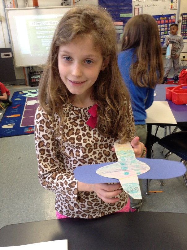 Bella shared the mode of transportation she created.