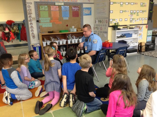 Officer Stemmler visited our classroom unexpectedly this week and the kids LOVED it!!