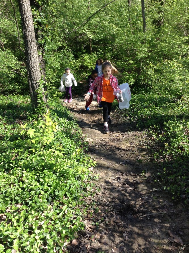 These friends were RUNNING through the woods to look for materials for their nests. Yay for science!