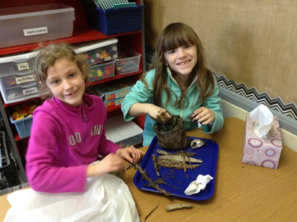 Bella and Ruby created their nests with smiles on their faces.