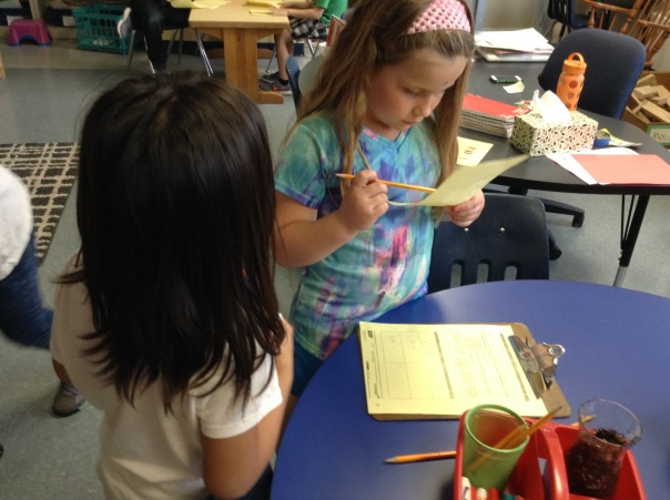 Olivia and Mia asked one another survey questions to collect data.