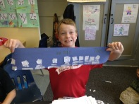 Trip is excited to share his math work with us!